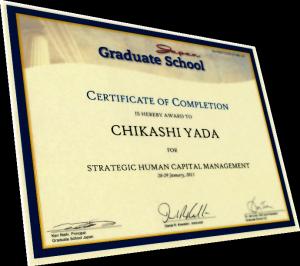 Graduate School Japan Cirtificate